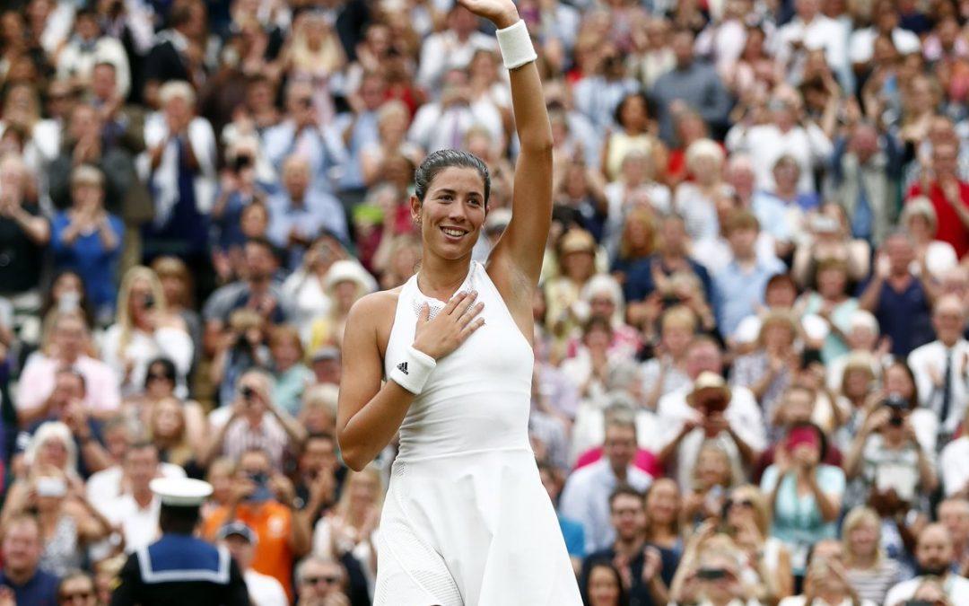 Muguruza hace historia en Wimbledon