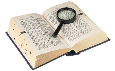 El Diccionario del Analista: Las 27 palabras que debes saber