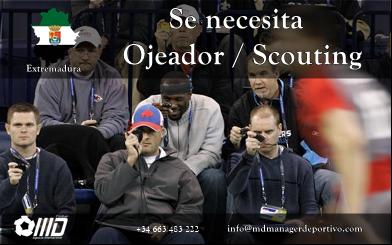 MD Oferta Puesto de Ojeador / Scouting Extremadura