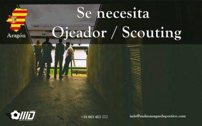MD Oferta Puesto de Ojeador/Scouting para Aragón