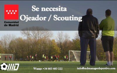 MD Oferta puesto de Ojeador /Scouting Comunidad de Madrid