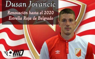 MD Nuestro Jugador Dušan Jovančić Ficha Hasta el 2020 por el Estrella Roja de Belgrado