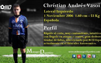 MD se hace con la nueva perla que quieren grandes clubes españoles, Christian Andrés Vasoi.